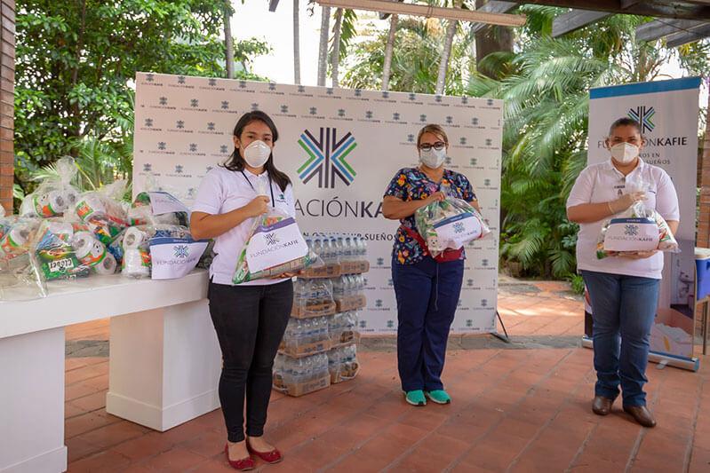 Fundación Kafie dona materiales de bioseguridad-higiene a hospitales