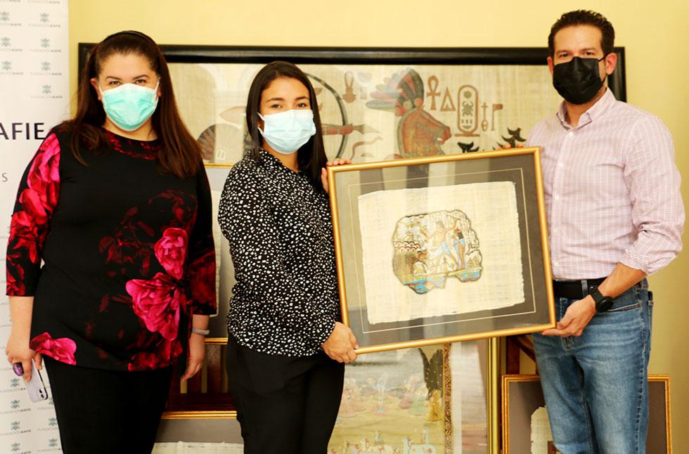 Fundación Kafie realiza donación de pinturas al MIN